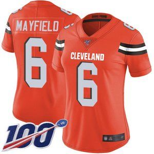 Women Cleveland Browns Baker Mayfield Jersey 100th